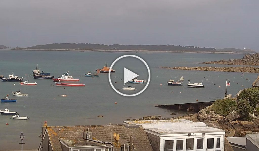 Webcam to Tresco, St Mary's Hall Hotel. Isles of Scilly